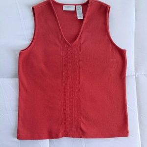 Liz Claiborne Sleeveless V-neck cotton shirt